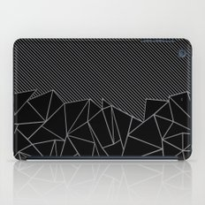 Ab Lines 45 Grey and Black iPad Case