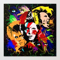 Bowie PopArt Metamorphosis Canvas Print