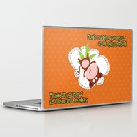 monkey Laptop & iPad Skins featuring Monkey by Arevik Martirosyan