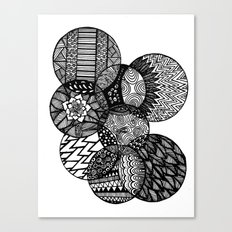 Sharpie Circles Canvas Print