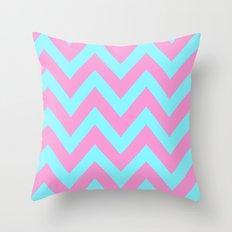 PINK & TEAL CHEVRON  Throw Pillow