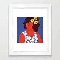 Caribbean girl Framed Art Print