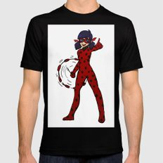 Miraculous Ladybug! Black SMALL Mens Fitted Tee