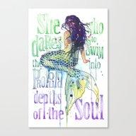 Mermaid : Profound Depth… Canvas Print