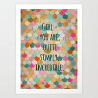 Don't Forget, Girl - You… Art Print