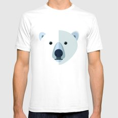 Polar bear SMALL White Mens Fitted Tee