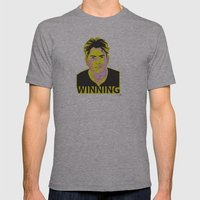 Charlie Sheen Winning_Ink Mens Fitted Tee Athletic Grey SMALL