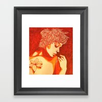 Female Study With Tiger … Framed Art Print