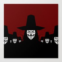 Million Mask March Canvas Print