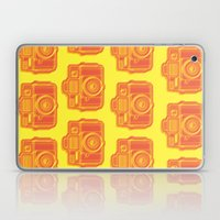 I Still Shoot Film Holga Logo - Yellow & Red Laptop & iPad Skin