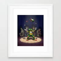 A Hard Act to Follow Framed Art Print