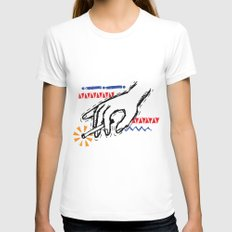 Impulse Womens Fitted Tee White SMALL