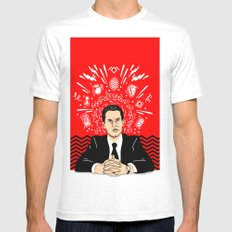 Twin Peaks: Dale Cooper's Thoughts Mens Fitted Tee White SMALL