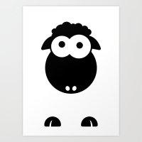 Minimal Sheep Art Print
