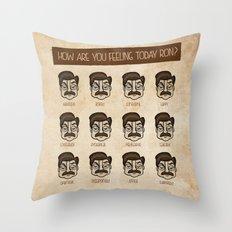 Ron Swanson 5 Throw Pillow