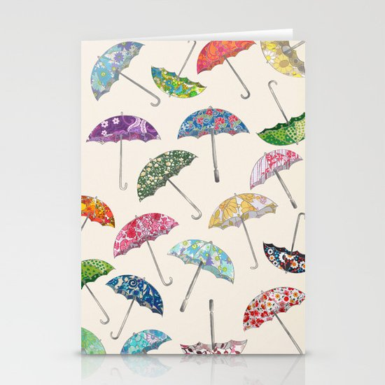 Umbrella & umbrellas Stationery Card
