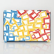 rectangles in primary colours iPad Case