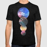Echoes Mens Fitted Tee Tri-Black SMALL