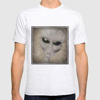 Alien Mens Fitted Tee Ash Grey SMALL