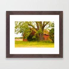 Red Idle Framed Art Print