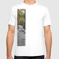 Autumnal woodland. Padley Gorge, Derbyshire, UK. White Mens Fitted Tee SMALL