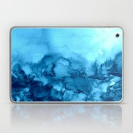 Laptop & iPad Skin featuring INTO ETERNITY, TURQUOISE… by EbiEmporium