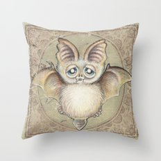 Bat Tito Throw Pillow