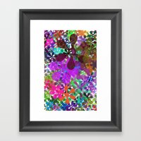 PLAYING WITH COLORS Framed Art Print