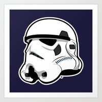 Trooper Bucket - Star Wa… Art Print