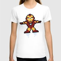 Iron Pixel Womens Fitted Tee White SMALL
