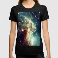 Nebula. Womens Fitted Tee Tri-Black SMALL