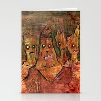 Zombies In A Red Dawn Ap… Stationery Cards