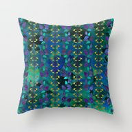 Leaf And Floral Pattern Throw Pillow