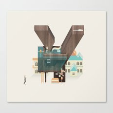 Resort type - Letter Y Canvas Print