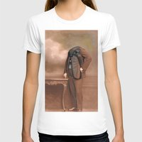 Dog Face Womens Fitted Tee White SMALL
