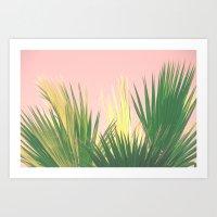 Neon Tropics II Art Print