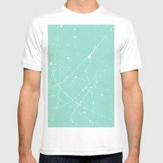 Dazed + Confused [Turquoise] White Mens Fitted Tee SMALL