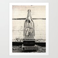 Old Seven-Up Bottle Art Print