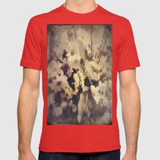 Flowers of Nostalgia Mens Fitted Tee Red SMALL