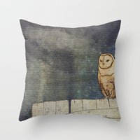 Whoo Goes There? Throw Pillow