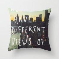Different Views Throw Pillow