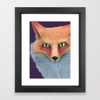 The Dark Of The Eyes Framed Art Print