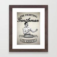 The Fighting Gentlemen Framed Art Print