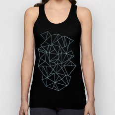 Abstraction Outline Sky Blue Unisex Tank Top
