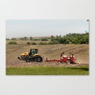 Iowa  Farming Canvas Print