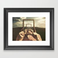 Empty Frame Framed Art Print