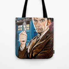 The Tenth Doctor and His TARDIS Tote Bag