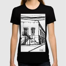 LX Factory 1 Womens Fitted Tee Black SMALL