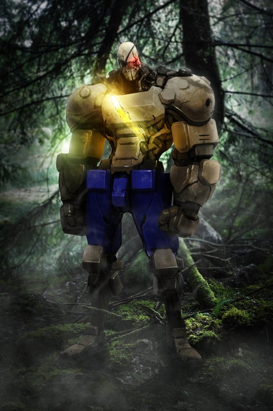 Mecha series // Sagat Art Print