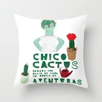 Chico Cactus Throw Pillow